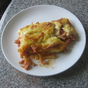 Pastitsio straight from the oven