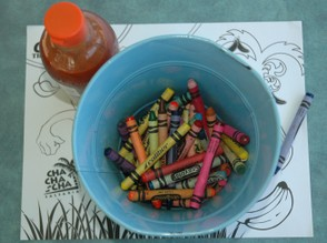 Reuse of crayons makes sense