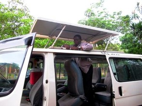 Preparing the Van for Safari