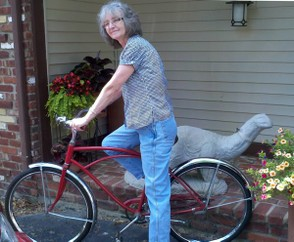 Bev Owens On Her Vintage Cruiser Bicycle