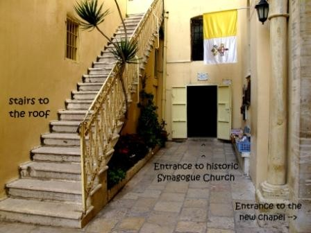 Entranceway to the Synagogue Church