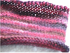 Kntting with dyed yarn