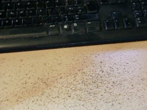 Image: The gunk after a keyboard shaking.