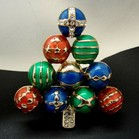 Unmarked Ornament Christmas Tree Pin
