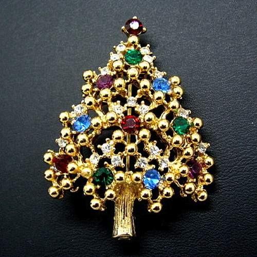 Eisenberg Christmas Tree Pin #1 - Collecting Vintage Christmas Pins