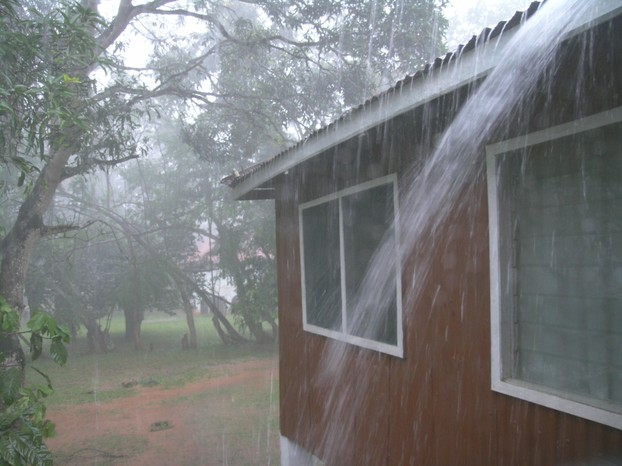 Rain Damages The Foundation Without A Gutter Or Rain Catcher