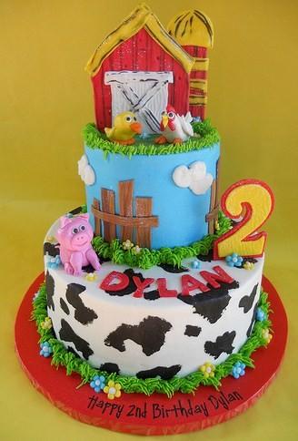 Farm Animal Cakes And Cupcakes