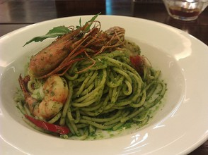 Seafood and Pasta Genovese