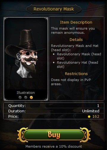 Image: Revolutionary Mask in Solomon's Store