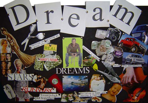 Dream / wish / vision board