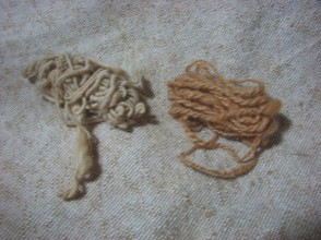 Single spun yarn and two ply yarn