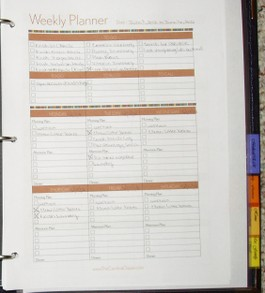 My weekly planner pages