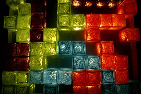 Glass Cube Tetris