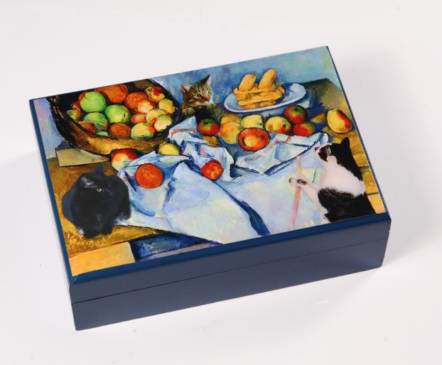 Cézanne's Cats Wooden Keepsake/Memory Boxes