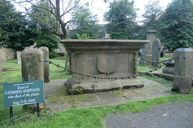 Image:  Grave of Catherine Mompesson, Eyam
