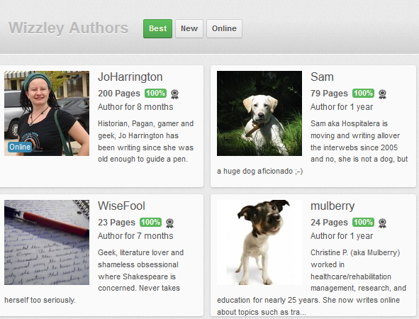 Image: Excellent Authors on Wizzley August 17th 2012
