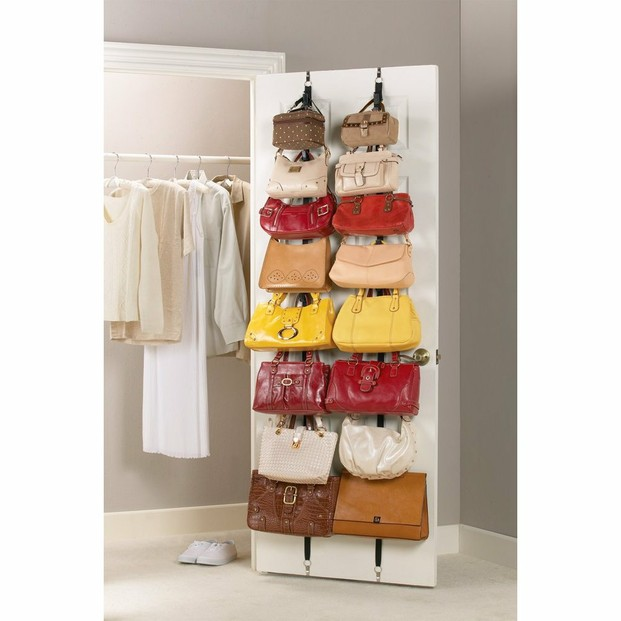 Get organized with a closet purse organizer - Closet organizer for purses ...