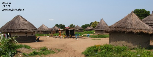 Tukul Compound Along the Nimule-Juba Road