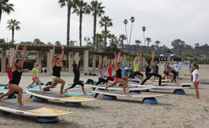SUP Land Board Yoga