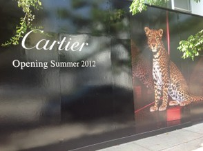 Upcoming Cartier boutique in the Design District