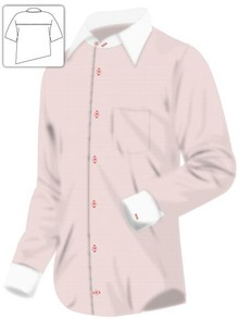 Executive Pink and White Dress Shirt