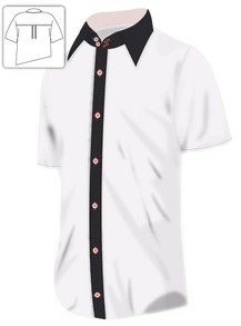 White Black and Pink Shirt
