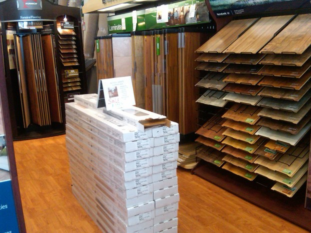 Flooring stacked, acclimating