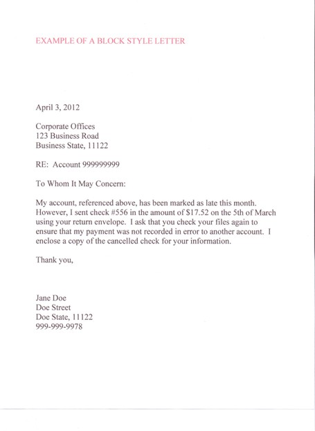 how to write a professional looking letter