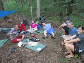 Cooking Dinner on the Appalachian Trail