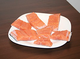 Portion the Salmon