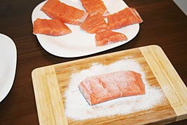 Rub Salmon in Low-Sodium Salt