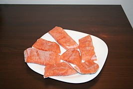 Portioned Salmon Rubbed in Salt
