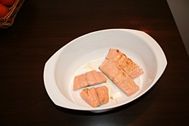 Place Salmon in Baking Dish
