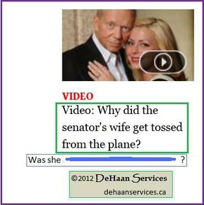 Teaser for Wife of Senator Thrown from Plane