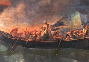 Bouboulina_attacking_Nafplion_19th_c_painting.jpg ‎
