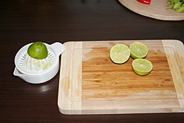 2. Squeeze the limes