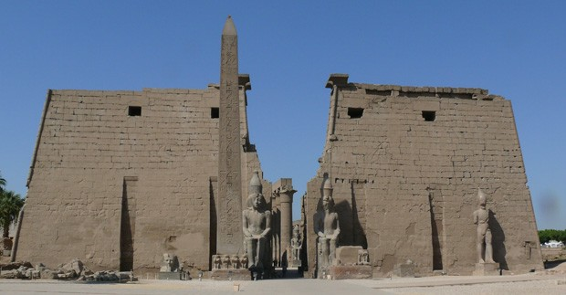 The Entrance to the Luxor Temple