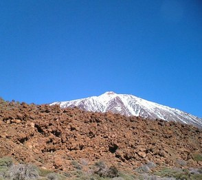 Snow-capped Mt Teide
