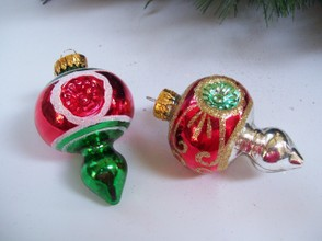 Glitter Finial Ornament with Indent