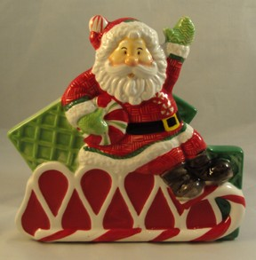 Fitz & Floyd Santa Napkin Holder