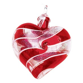 Glass Eye Studio Heart Ornament
