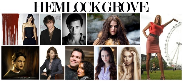 The cast of the Hemlock Grove TV show