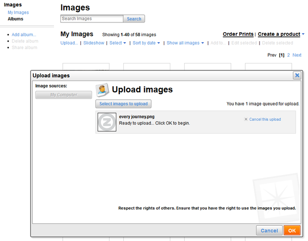 Image:  Zazzle Uploading an Image
