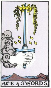 Ace of swords (master of intellect or great idea coming)