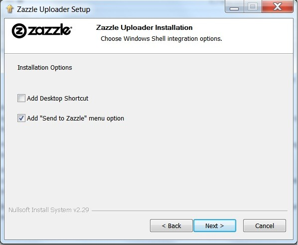 Image: Zazzle Builk Uploader Installation Wizard