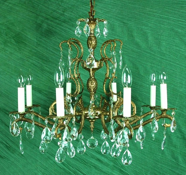 Antique Chandelier with 8 Arms