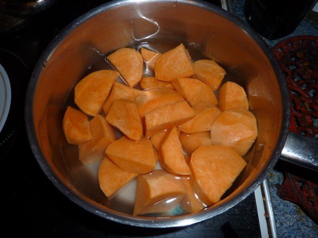 Sweet Potatoes in the Pan