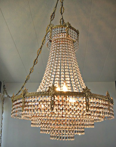 Gold Plated French Chandelier