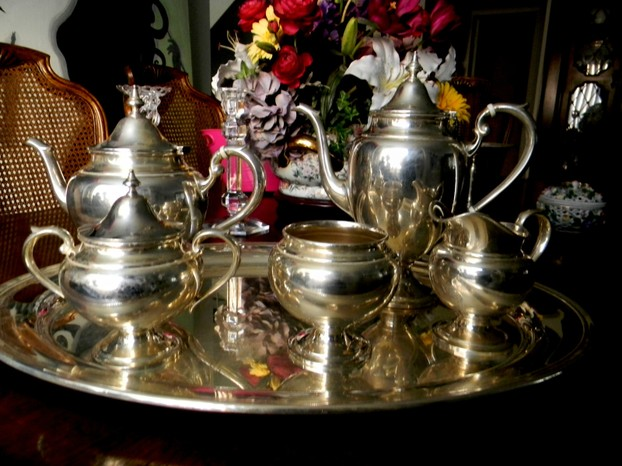 Distinctive Six-Piece Gorham Tea Set