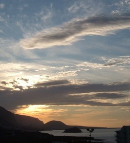 Sunset view looking past Garachico